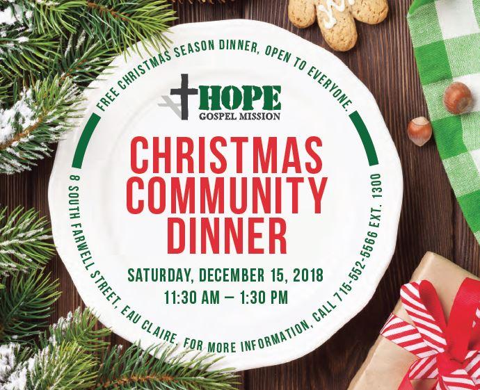Christmas Dinner at Hope Gospel Mission