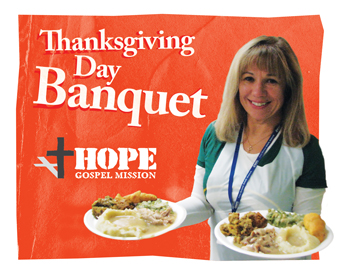Thanksgiving Banquet at Hope Gospel Mission