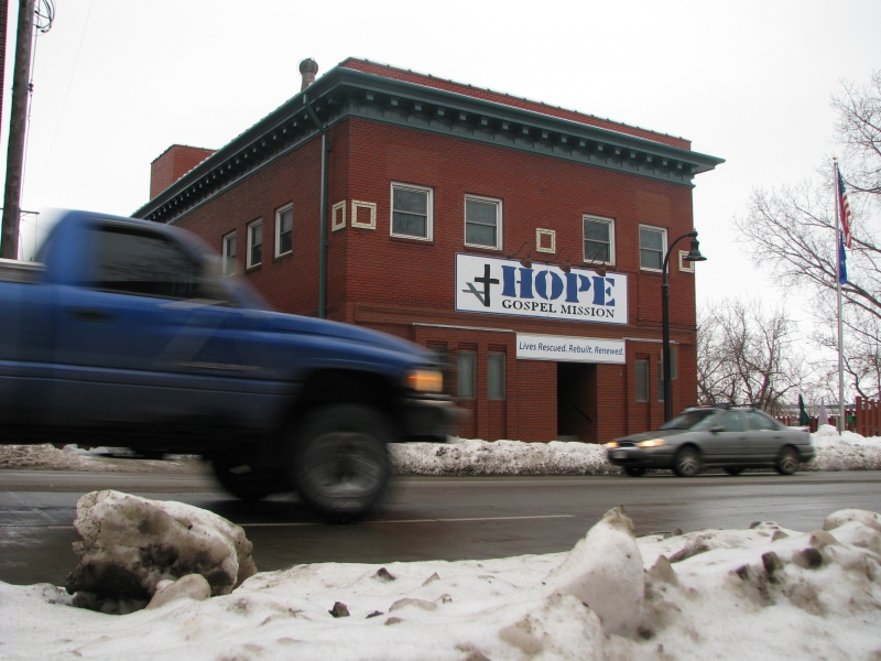 Picture of Hope Gospel Mission's men's shelter