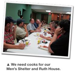 Picture of men at Men's Shelter