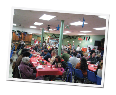 Guests at the Christmas Season Dinner.